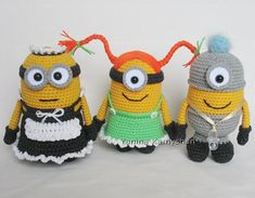 Ravelry: Cute little yellow monsters by Amigurumi Fair