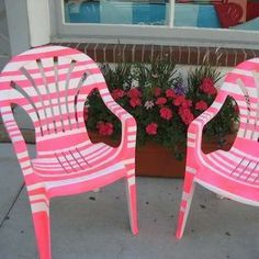 Painted Plastic Furniture…