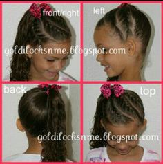 Cute side do with braids.