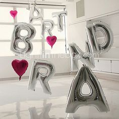 16 Inch(40cm) Silver Letter Balloon 2016 - $2.99