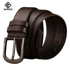 cf99b804743 FuzWeb:[KAITESICZI] new leather tide men's leather belt male casual pin  buckle belt