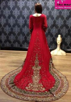 45d01b9766 Latest Wedding Maxis Long Tail Dresses Designs Collection 2018-2019