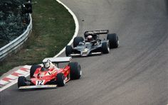 Carlos Alberto Reutemann (ARG) (Scuderia Ferrari), Ferrari 312T2 - Ferrari Tipo 015 3.0 Flat-12 (finished 6th) Mario Gabriele Andretti (USA) (John Player Team Lotus), Lotus 78 - Ford-Cosworth DFV 3.0 V8 (RET)  1977 Dutch Grand Prix, Circuit Zandvoort  © John Millar | Source: Fickr