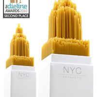 Spaghetti in New York by UK student Alex Creamer (2010 Dieline Awards)