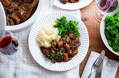 Serve this slow cooker beef bourguignon recipe with mashed potato and cabbage for a comforting family dinner. See more slow cooker recipes at Tesco Real Food. Best Slow Cooker, Slow Cooker Beef, Slow Cooker Recipes, Beef Recipes, Cooking Recipes, Healthy Recipes, Batch Cooking, Slow Cooking, Healthy Dinners