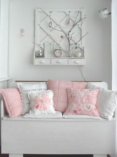 Gorgeous crocheted and quilted cushions