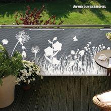Balkonbespannung Gräser, stein, 90 x 300cm