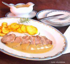 Cocina Sin Problemas: Cerdo con salsa de cebolla guisado en olla express.