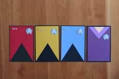Love these!  Might have to try making them for my next ST party. Star Trek Cards by FandomWarriorCrafts on Etsy
