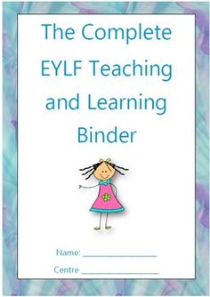 The Complete EYLF Teaching and Learning Binder (Upgraded) - Kinderbetreuung Primary Education, Early Education, Early Childhood Education, Kids Education, Learning Stories, Learning Resources, Teacher Resources, Eylf Outcomes, Enchanted Learning