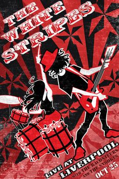 White Stripes poster concept by ~lukeradl on deviantART