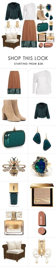 """""""Not everything is faux"""" by pulseofthematter ❤ liked on Polyvore featuring Valentino, Tom Ford, Yves Saint Laurent, Vivienne Westwood, Janna Conner Designs, Bee Goddess, Kimberly McDonald, Burberry, Givenchy and Chanel"""