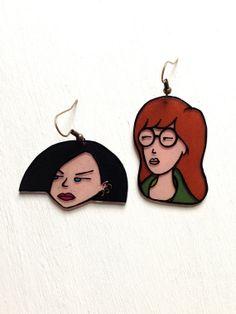 Daria Jane Lane hand drawn earrings
