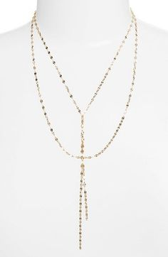 Free shipping and returns on Lana Jewelry 'Mega Blake' Lariat Necklace at Nordstrom.com. A center twist of embossed chains gives alluring style to a delicate 14-karat gold necklace. The fluid design moves throughout the day, taking on different shapes that further the style's intrigue.