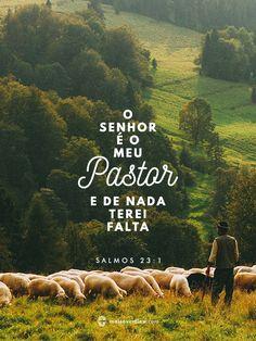 o Senhor é o meu Pastor e de nada terei falta.  - salmos 23:1