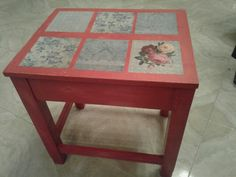 Decoupage-small table