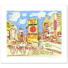 """""""Times Square"""" Limited Edition Serigraph by Susan Pear Meisel   