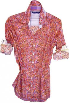 41a43d43e7e An all time favorite Liberty of London signature multicolor paisley print.  Contrasted with a lilac