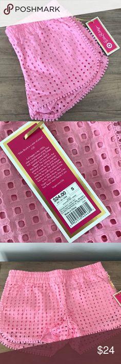 Lilly Pulitzer vacation  pink eyelet shorts Lilly for target brand new vacation pink shorts Lilly Pulitzer for Target Shorts
