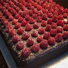 Celebrating Dad's birthday tonight with a chocolate ganache & raspberry layer cake! Dad Birthday, Chocolate Ganache, Food Styling, Raspberry, Food Photography, Layers, Fruit, Cake, Desserts