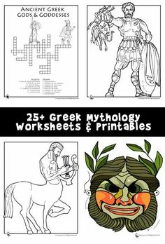 Use these worksheets in your Greek Mythology lesson plans; these free printables are suitable for 3rd, 4th, 5th and 6th grade students.