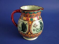 Shorter and Son 'Mendoza' Period Ware Jug after Mabel Leigh c1939