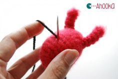 How to Embroider you Amigurumi Details - Tutorial by ahookamigurumi