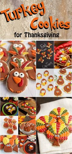 Over 12 Turkey Cookies for Thanksgiving | The Beafoot Baker
