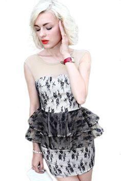 Floral Cluster Netted Peplum Dress MB21733 Boho Dress, Dress Up, Dress Outfits, Peplum Dresses, Dresses Online, Designer Dresses, Polyvore, Girl Fashion, Formal Dresses