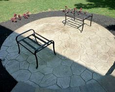 Stamped Concrete Circular Patio