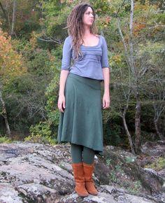 Gaia Conceptions   Wanderer Below Knee Skirted Leggings