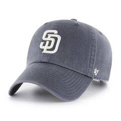 d315c1d4f425e San Diego Padres 47 Brand Vintage Navy Clean Up Adjustable Hat
