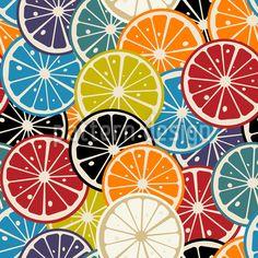 stock vector: lemon slice colored pattern-Raw Stock Photo ID: 33970