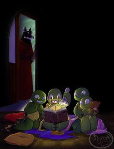 TMNT - Late night adventure by Myrling.deviantart.com on @DeviantArt