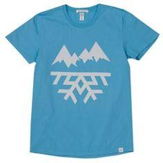 The Mountain Label (Aqua) Men's T-Shirt