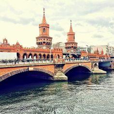 Oberbaumbrücke Berlin - Alemanha #bncviaja