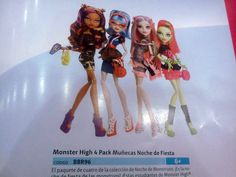 Ghouls Night Out: 2013 Monster High Clawdeen Wolf, Ghoulia Yelps, Rochelle Goyle…