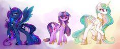 Princesses sketch by MagnaLuna