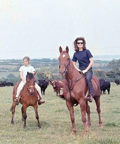 Jacqueline, Caroline, and John Jr., Ireland 1967
