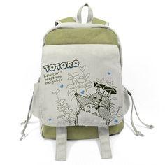 Amazon.com: Cc Anime My Neighbor Cartoon Totoro Print Canvas Schoolbag Large Shoulders Backpack: Toys & Games