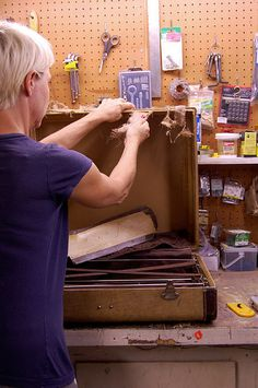 stripping-old-suitcase by The Art of Doing Stuff, via Flickr