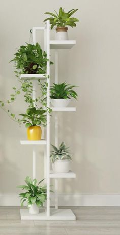 House plants decor - Online Shop Standing flower shelf Living room & balcony Plant shelf flower pot stands with wood plant Balcony Plants, House Plants Decor, Indoor Plants, Balcony Garden, Plants In Living Room, Decoration Plante, Balcony Decoration, Diy Plant Stand, Plant Stands