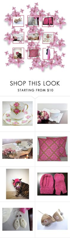 """""""Pink"""" by therusticpelican ❤ liked on Polyvore featuring modern, contemporary, rustic and vintage"""