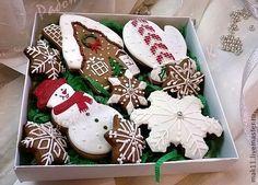 """Купить Пряники """"Набор новогодний"""" - пряник, пряники, имбирный пряник, Новый Год, новогодний подарок"""