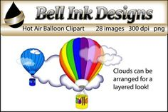 There are 28 images in this download.11 Color Balloons1 Blackline Image16 Color Clouds  (8 solid and 8 transparent)Personal, classroom, and commercial use ok.  Please see the Terms of Use upon purchase for a full description of how graphics may be used.Visit Me on Facebook