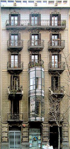Casa Jeroni Granell  1900  Architect: Jeroni Francesc Granell i Manresa