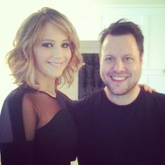 Jennifer Lawrence's new do!  Her hair cut into a shoulder-length shag with tons of layers throughout, starting around her cheekbone. This cut is so versatile, she can wear it wavy for a fun, playful look or style it straight for a chic look, and she still has enough length to wear it up.