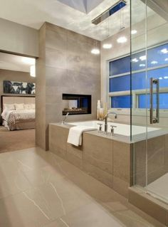 Love the fireplace and the tub big enough for two