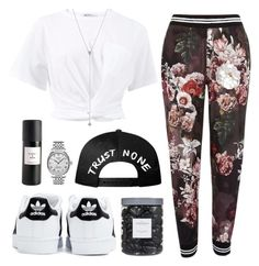 """Untitled #88"" by roxeyturner ❤ liked on Polyvore featuring River Island, T By Alexander Wang, Tissot, adidas, Eight & Bob, Vince Camuto and Threshold"