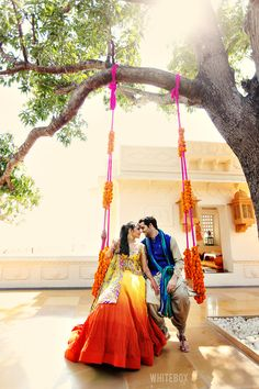 Wedding or not, a photo on a swing is always a great idea! ----- #indian #wedding